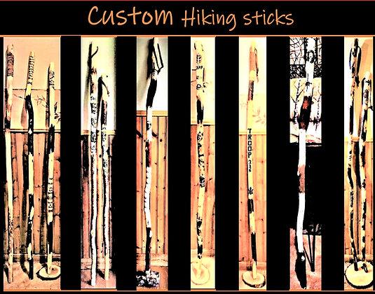 hiking stick,husband,gift,walking,stick,retirement, wood, anniversary gift,troop