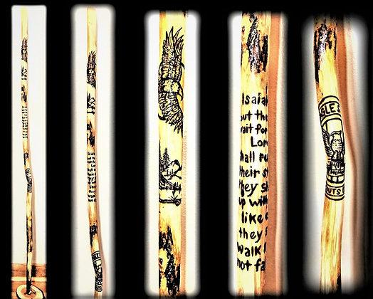 wood hiking stick,husband,gift,walking,stick,retirement, wood, anniversary gi