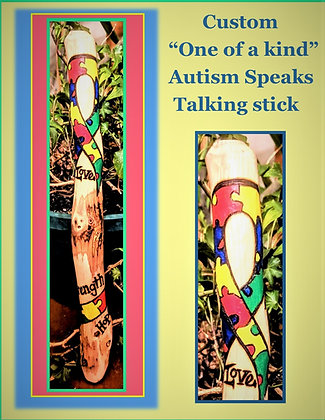 Talking stick, autism speaks, communication  - group talk - office gift