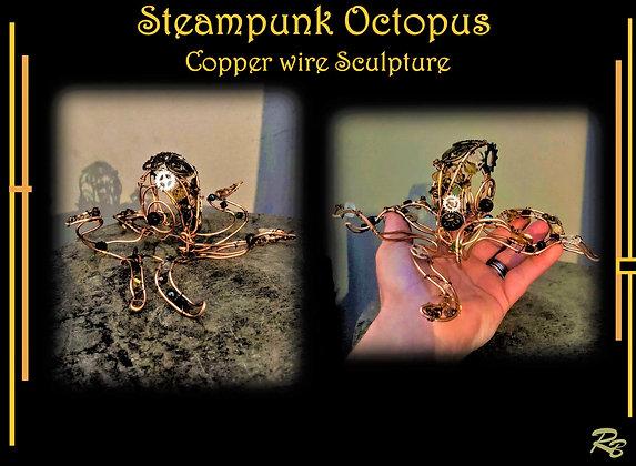 Octopus, Wire sculpture, wire,Steampunk