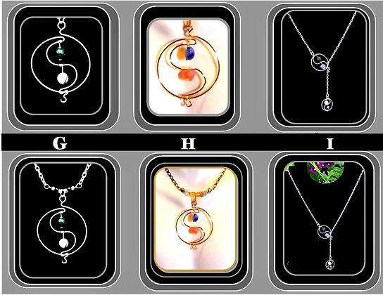 girlfriend gift, yin yang, necklace, birthstones
