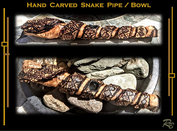 Cool pipes, Unique, Stoner gift, Snake pipe, bowl, carved