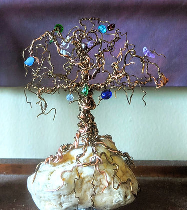 family birthstone tree, wire trees, mother gift, Family birthstone tree