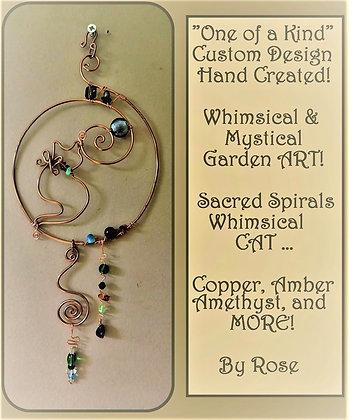Cat, suncatcher, turtle, gift,wife,mother gift, hummingbird, garden decoratio