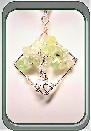 Peridot,August,healing, Birthstone, tree of life,  necklace,family birthstne ge