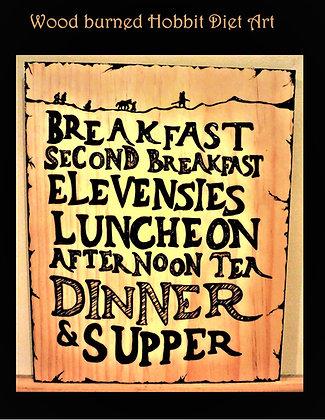 hobbit diet, cottage decor, wood signs, custom, sign, wood