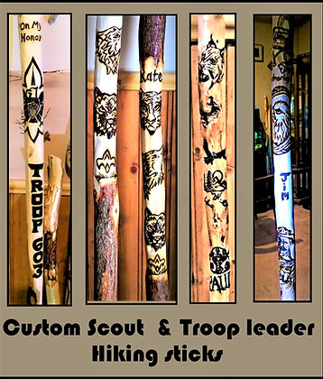 Boy scout troop leader gift,scout leader,retirement,hiking stick,walking,