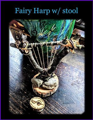 fairy accessories, fairy garden, harp, lute, fairy bench,fire pit,fairy item,