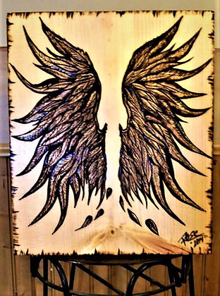 Angel wings, art, decor, cabin, lodge, cottage, wood signs, custom, sign