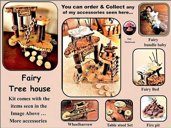 fairy tree house,fairy house,fairy garden, fairy garden kit,kids garden,fairy