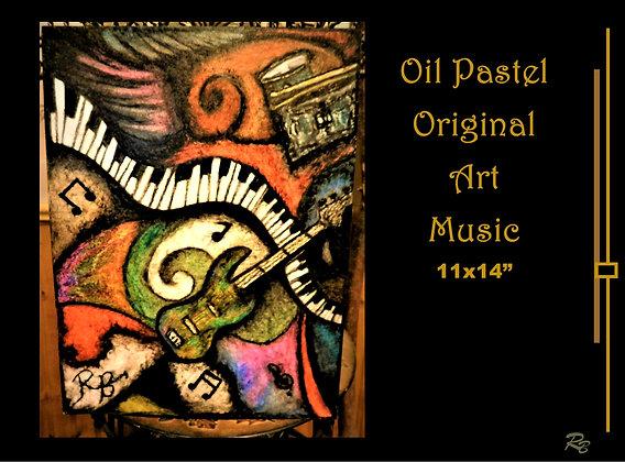 Music art, abstract, art, musician gift
