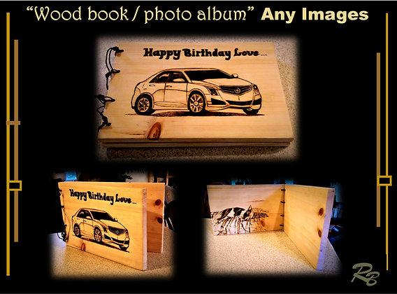 gifts for Men,wood book photo album,wood anniversary, gift,mother,wife,daughter