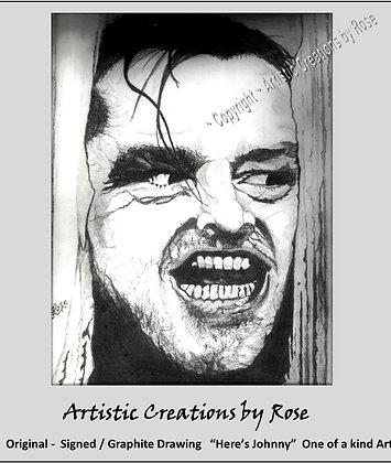 heres johnny, jack nicholson, the shining, pet portraits. dog art, fan art