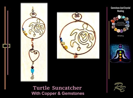 Turtle, sun catcher, Celestial,stars,Moon, gift,wife,mother,daughter, sister, fr