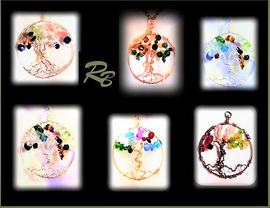 wife gift,mother gift,daughter gift,tree of life necklace,family birthstones