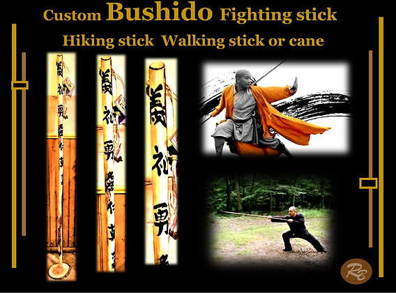Bushido, Fighting, stick, hiking stick, husband, wife, Hiker gift, retiement,
