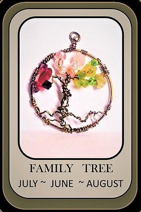 Birthstone, tree of life, healing, gemstone necklace,family birthstne gems