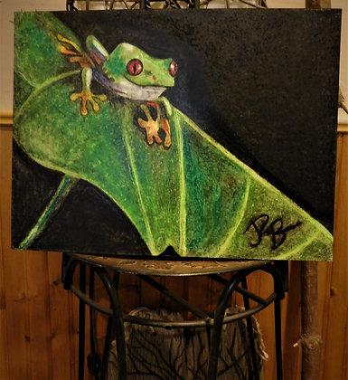 Tree frog, landscape,Art Mural,music art, Abstract,fine art,Oil painting