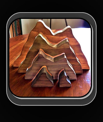 Mountain puzzle, hand made,child gift,wood puzzle, girl gift, boy gift, kid gift