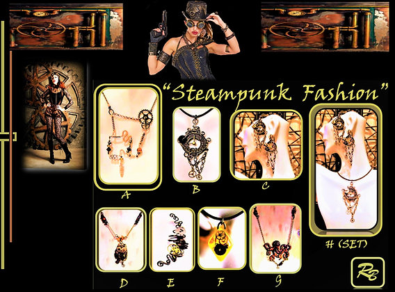 steam punk jewelry,necklace, steampunk,Steampunk wedding, necklace,Clock,Ste