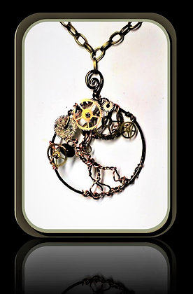 steampunk DIY, Steampunk necklace,Clock necklace,Post Apocalyptic,Steampunk F