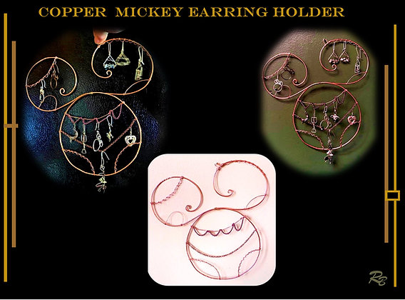 mickey mouse earring holder, mickey earring holder , mickey gifts, disney lover