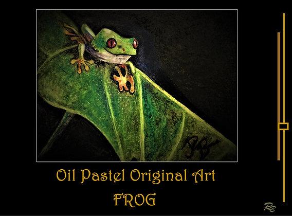 Frog art, frog gift ideas, frog lover, tree frog