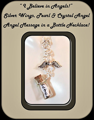 vial, angel necklace, Loss, bereavement, memorial, sympathy, mother