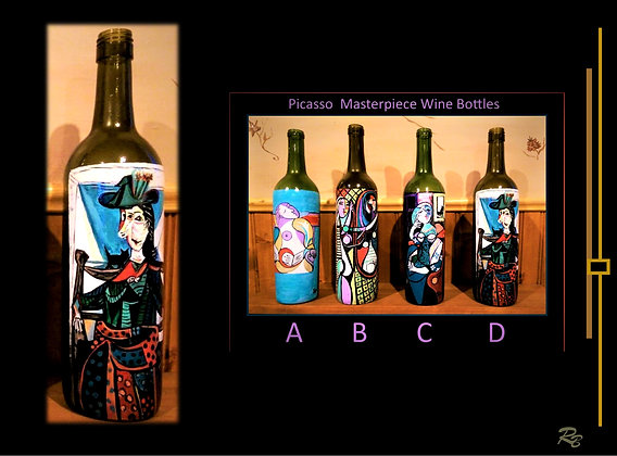 Picasso, Dora Marr au Chat, art, painted wine bottles