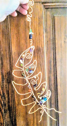 suncatcher, garden decoration,mother,wife,duaghter,gift,friend, feather,