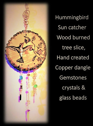 Hummingbird, sun catcher, Celestial,stars,Moon, gift,wife,mother,daughter, si
