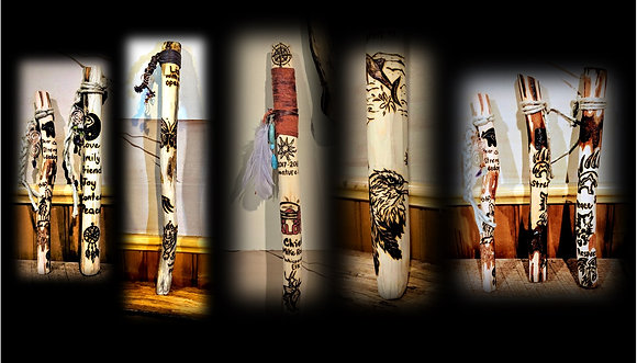 custom, Talking stick, classroom too child learning,prayer stick,