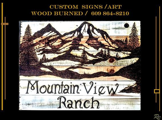 Mountain, Art, Cabin, decor, rustic,lodge, five year anniversary gift, wife, gif