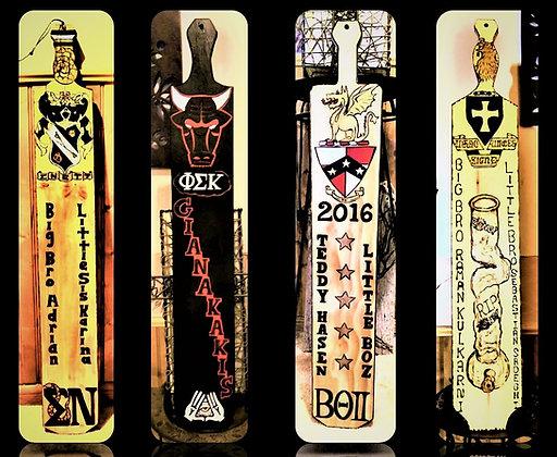 Bong, fraternity paddle, Greek, paddles, custom, frat, paddles, big brother