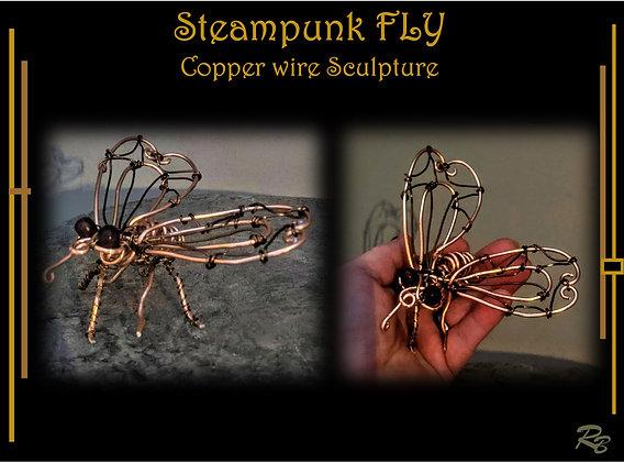 Fly, Wire sculpture, wire, Steampunk, fly art