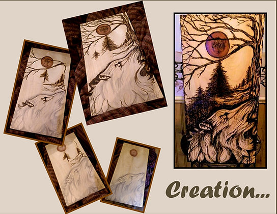 wolf art, husband gift, Rustic, Anniversary, wood anniversary gift