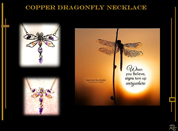 Signs from heaven,Dragonfly, Memorial,necklace,  loved one,  dragonflies