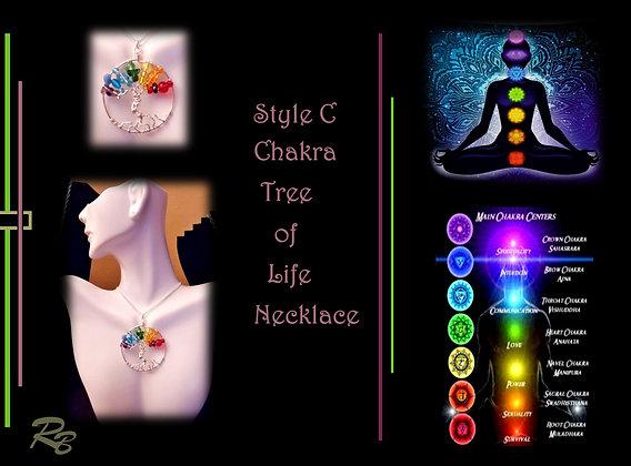 Tree of life,  wife gift,  chakra jewelry, chakra necklace, chakras,reiki jewelr