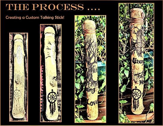 Shamanic, ritual,Talking stick, prayer stick, spirit stick, medacine stick, Tal