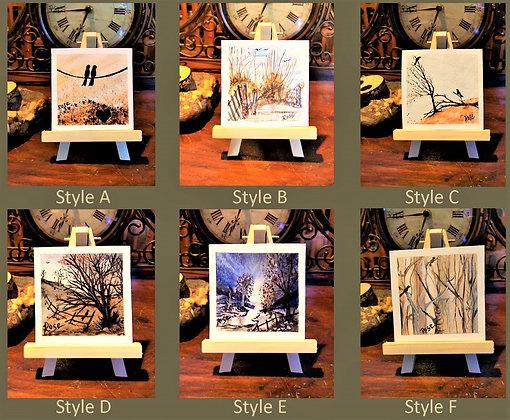 miniature Art, landscape,Art Mural,music art, Abstract,fine art,Oil painting