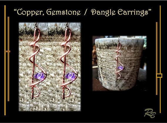 Spiral, earrings, dangle, zen, wife gift, mother, daughter, gift, earrings