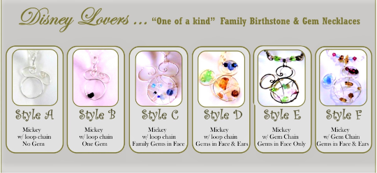 family birthstones, Disney,necklace,wife gift,mother gift,daughter gift