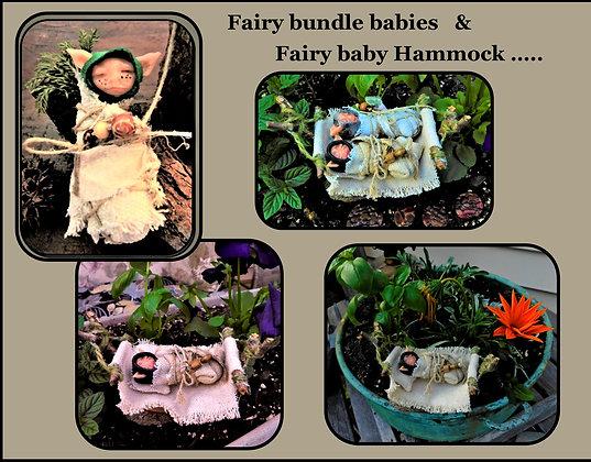 fairy hammock,fairy baby, fairy garden kit,flower pot,kids garden,fairy garden