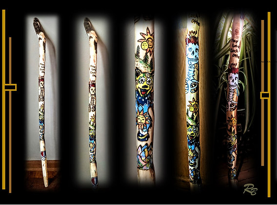 grateful dead, cane,  personalized for you, hiking, stick,walking,,grate