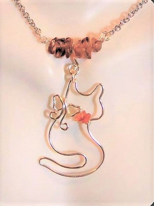 amber, cat necklace, cat lady, cats, cat lovers gift, cats, paw jewelry