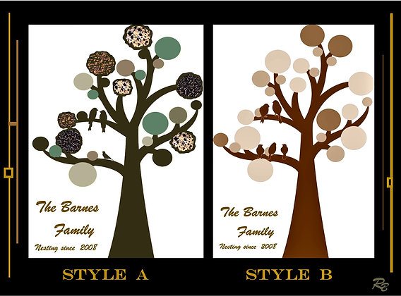 wife gift,family gift, Family Tree, mother gift, 8x10 print, personalized