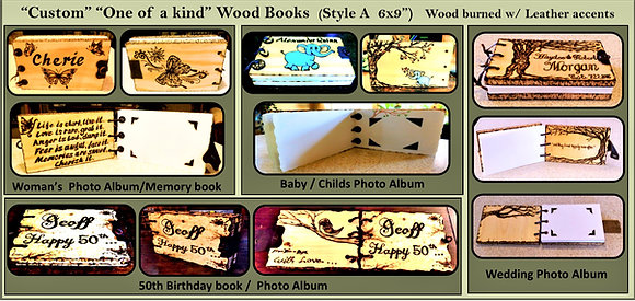 baby book, shower gift, elephant, photo album, mother gift, wood book,