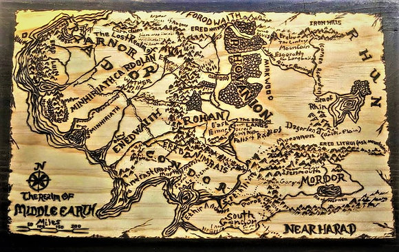 Lord  of the Rings, Personalized, wood signs, Custom, wood burned, art, gift