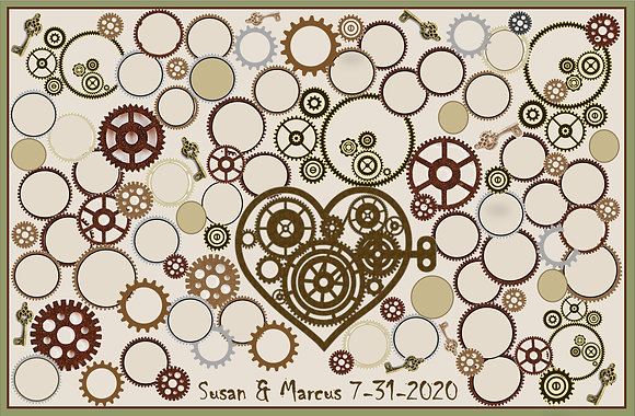 wedding guest book, alt, steampunk,Steampunk wedding, necklace,Clock,Steampunk