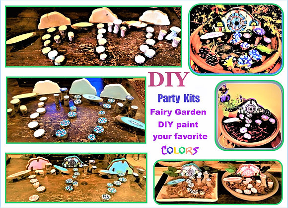 DIY, kids diy ideas, child paint party,fairy garden kit, fairy gardens, fairy